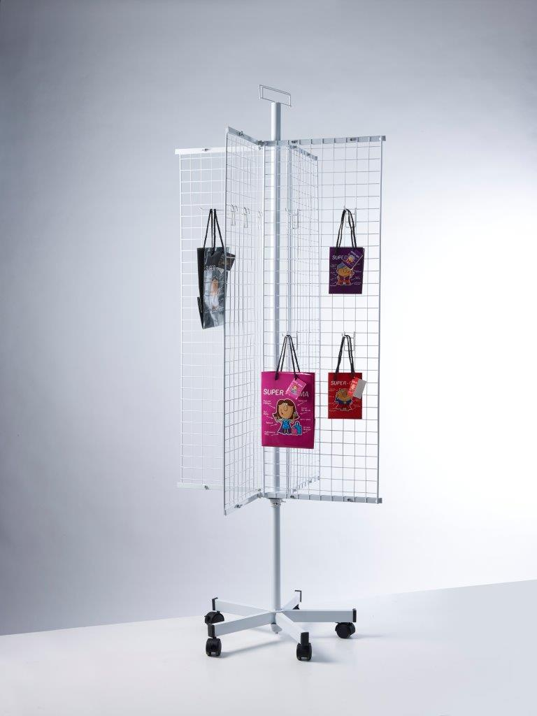 PW012-Buyck Displays-WIRE-NET DISPLAY IN METAL FOR LOOSE HOOKS