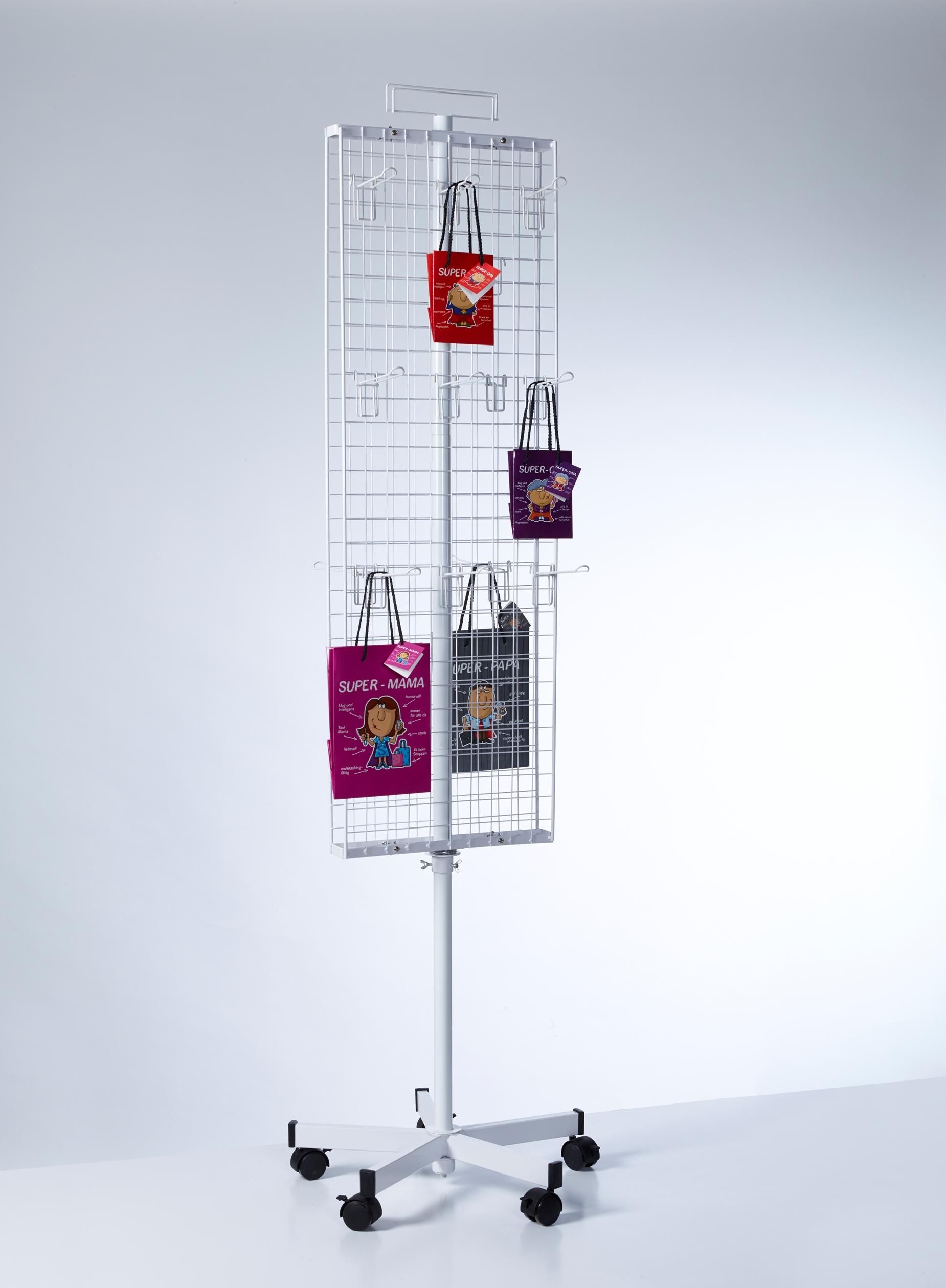 PW010-Buyck Displays-MOLEN MET NET-STRUCTUUR IN METAAL VOOR LOSSE HAKEN